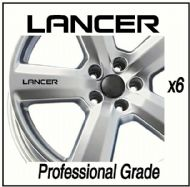 MITSUBISHI LANCER CAR WHEEL DECALS